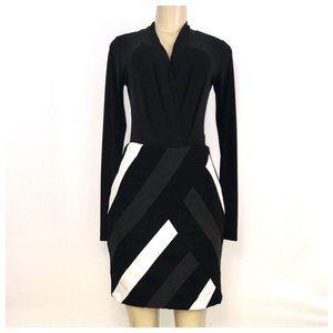 Black, Gray and White Mini Skirt Size 6
